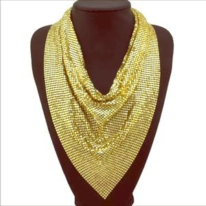 Golden neckerchief-necklace